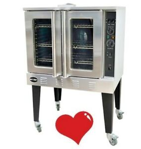 Full Size Gas Convection Ovens Gco613 Commercial Baking Cooking Oven Glass Door