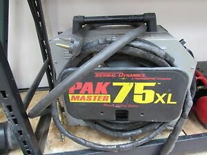 Thermal Dynamics Pak 75xl Plasma Cutter With Manual Cuts Up To 3 4