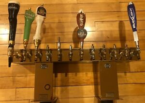 Perlick Bridge Tee Draft Beer Tower Glycol cooled 12 Faucets 5 Taps Brass Finish