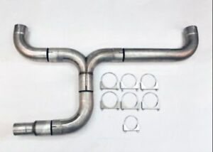 Diesel Dual 4 00 Diameter Truck Stack Exhaust Kit Stainless Wdpdk400 400 Ss Wesd