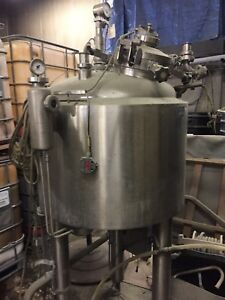 12622 001 Used Approximately 65 Gallon Stainless Steel Sanitary Polished Reactor