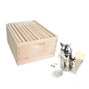 Gl 1bk tk2 Beekeeping Beehive Brood Complete Kit With Frames Foundations Spacer