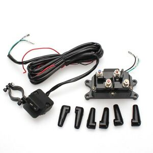 ATV 12V 250A Starter Solenoid Relay Contactor & Winch Rocker Thumb Switch  Kit