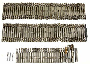 Huge Lot 110 Hs Morse Drill Bit Double End Body Drills End Mills