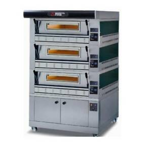 Moretti Forni Double Stack Pizza Ovens Gas Deck Ovens P110g A3 Pizzeria Italy