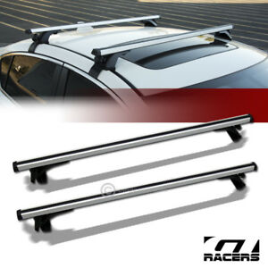 Universal 50 Silver Window Frame Roof Top Rail Rack Tube Cross Bars Carrier G22
