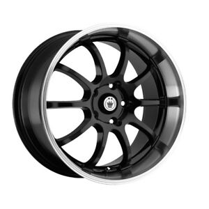 4 14 Inch Konig 26mb Lightning 14x6 4x100 4x114 3 38mm Gloss Black Wheels Rims