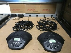 Lot Of 2 Konftel 200 Omnisound Wireless Conference Voip Phone 840101014