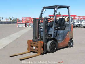 2007 Toyota 8fgcu20 3 150 4 000lb Lbs Warehouse Industrial Forklift Scale Mast