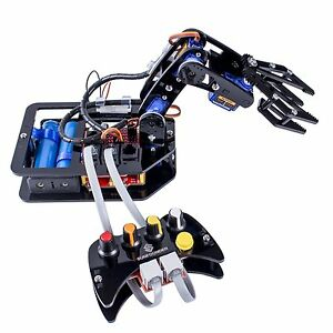 Sunfounder Diy Robotic Arm 4 axis Servo Control Rollarm With Wired Controller