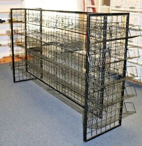 H shaped 56 X 86 Black Dvd cd book Wire Display Rack shelves Local Pickup Nj