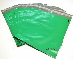 100 Green Color Poly Mailer Bags 14 5 X 19 Boutique Shipping Envelope Mailing