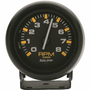 Auto Gage Mini Tachometer 0 8 000 2 3 4 Dia Black Face 2305