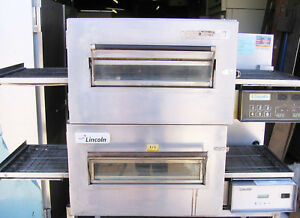 Double Stack Electric Pizza Subs Conveyor Oven 18 Inch Wide Belt Two 1 Ovens