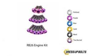 Purple Dress Up Bolt Kit For 1989 1994 Nissan Skyline R32 Gtr Partial Engine