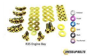Gold Dress Up Bolt Kit For 2007 2016 Nissan R35 Gtr Engine Bay