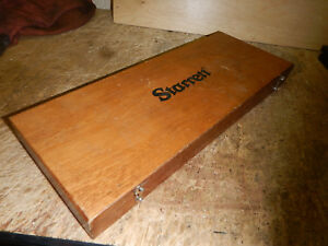 Starrett No 445 Depth Micrometer With Rods And Wooden Case Machinist Tool