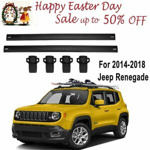 Upgraded For 2014 2018 Jeep Renegade Roof Rack Crossbars Cargo luggage Carrier