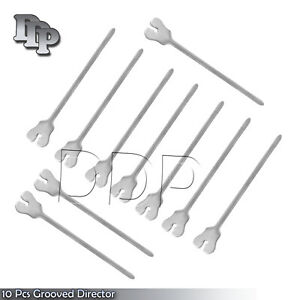 10 Surgical Dental Grooved Director Probe Tip And Tongue Tie 5 New Instruments