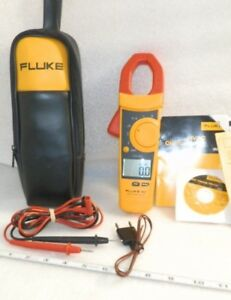 Fluke 902 Clamp Meter Nice Case With Fluke Leads And Temp Probe And Manuals