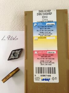 6 New Iscar Dnmg 432 m3p Carbide Inserts Grade Ic8150 l966