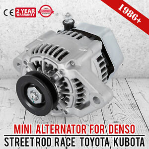 Mini Alternator Fits Denso Street Rod Race 1 Wire Small One Wire New 70 Amp