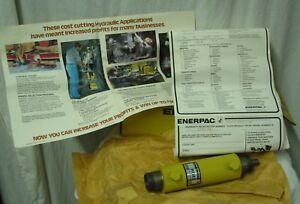 Nos Enerpac Rd 43 4 Ton Double Acting Hydraulic Cylinder In Original Box