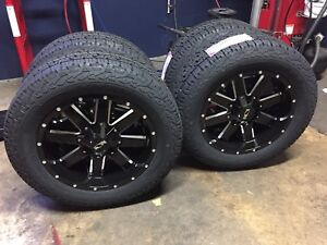 5 20 Ion 141 Gloss Black Wheels 33 Nexen At Tires Package 5x5 Jeep Wrangler Jk