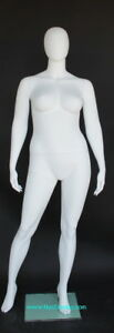 6 Ft 1 In Plus Size Female Mannequin Abstract Head Matte White New Style Plus 44