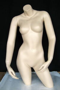 34 In Tall Female Mannequin Torso Arms Free Standing Skintone Finish Ft1ft