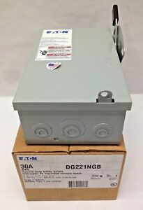 Eaton Cutler Hammer Dg221ngb Disconnect Safety Switch 30a 240v 2p Nema 1 Fusible