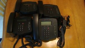 4 Polycom Soundpoint Ip 301 Sip Voip Phone 2201 11301 001