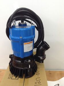 2 Pck Tsurumi Hs2 4s Submersible Sump Pumps Trash Water Sewage Portable Basement