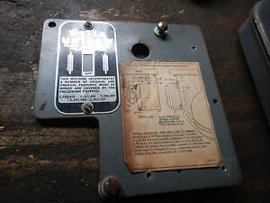 DELTA ROCKWELL UNISAW TABLE SAW SWITCH PLATE ID NAMEPLATE W SWITCH BRACKET