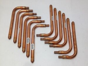 12 Lot 3 8 X 8 Copper Stub Out Pex Pipe Tube Fitting 90 Elbow Crimp Adapter