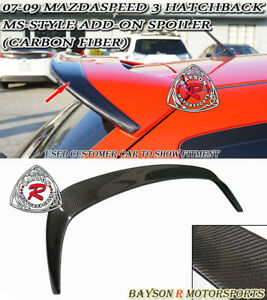Ms style Add on Roof Spoiler Wing carbon Fits 07 09 Mazdaspeed 3 5dr
