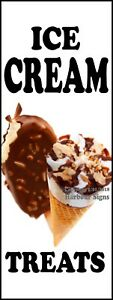 Ice Cream Treats Decal choose Your Size Food Truck Concession Vinyl Sticker