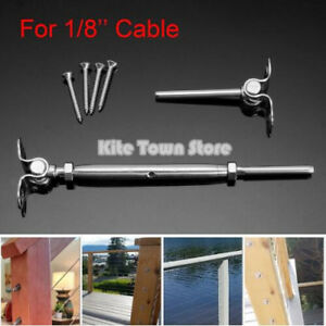 T316 Stainless Steel Deck Toggle Tensioner Set For Cable Railing 1 8 Cable