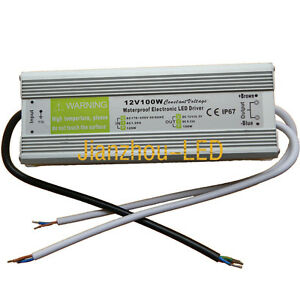 Dc 12v 100w Transformer Adapter Waterproof Power Supply For Led 3528 5050 Strip