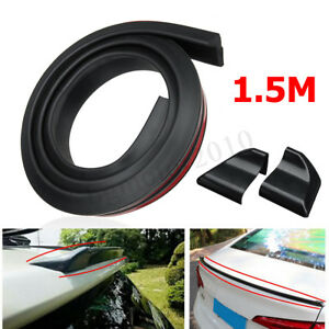 4 9ft 1 5m Diy Universal Black Car Rear Roof Trunk Spoiler Wing Lip Trim