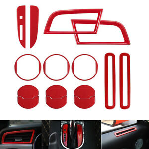 15pcs Car Interior Decoration Trim Side Ac Door Dash Vent Cover For Ford Mustang