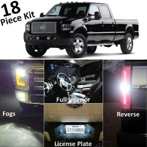 White Led Interior Exterior Lights Package 1999 2010 Ford F250 F350 Super Duty