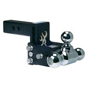 B w Tow Stow Ts10048bb Model 8 Adjustabl Tri Ball Mount Hitch browning Edition