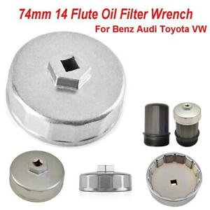 Universal 74mm 14 Flute Oil Filter Wrench Caps For Mercedes Vw Audi Dodge Mazda