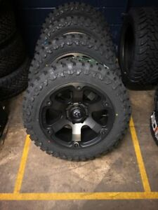 5 20 Fuel Beast D564 Wheels Rims 35 Atturo Mt Tires 5x5 Jeep Jk Wrangler