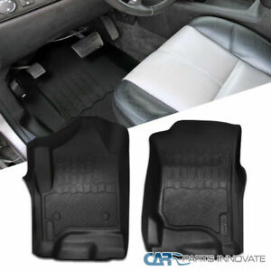 2pc 07 13 Chevy Silverado Gmc Sierra Tahoe Yukon Black Front Floor Mats Carpet