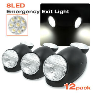 12pack black Emergency Exit Bug Eye Light Standard Led Spot Light W side Lights
