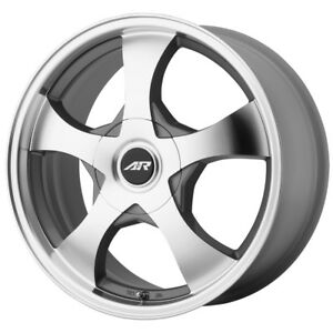 4 14 Inch Ar895 14x6 5x108 5x114 3 5x4 5 35mm Silver Machined Wheels Rims