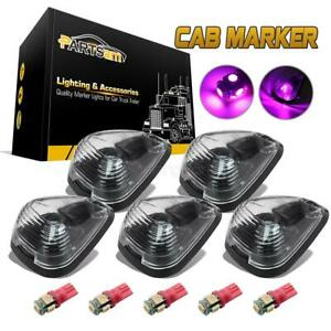 5xclear Cover Cab Marker Lights 264143cl 194 Pink purple Led For Ford E f 99 16