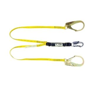 Guardian 01231 6 Double Leg Shock Absorbing Lanyard With Rebar Hooks